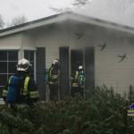 Recreatiewoning in brand op Stoetenslagh Rheezerveen