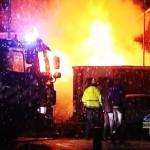 Schuren in de brand in Dedemsvaart